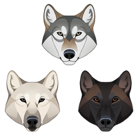 Some Wolf Sticker Heads