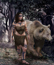 Bear Woman by SkyJaguar