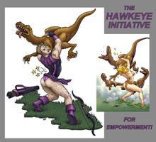 The Hawkeye Initiative by SkyJaguar