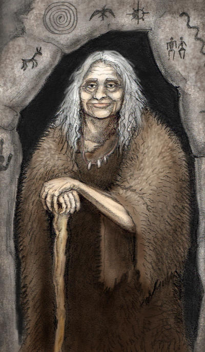 Stone Age Grandmother by SkyJaguar