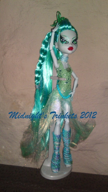 one of a kind lizzy scales monster high repaint by midnightstrinkets