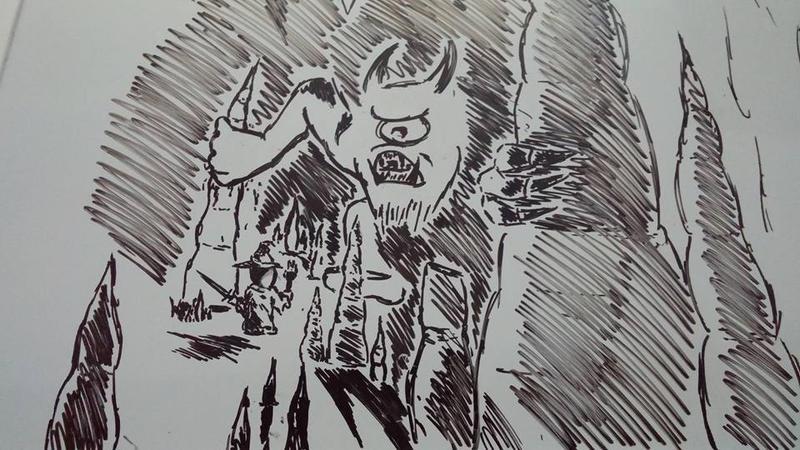 Whiteboard Sketch by Delyragos