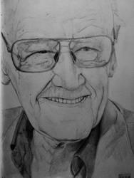 Stan Lee - pencil portrait