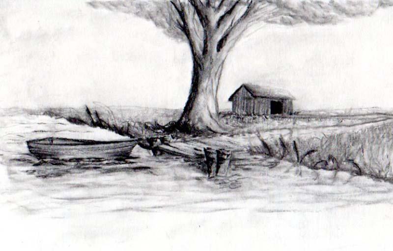 landscape charcoal sketches - photo #23