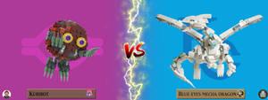 Kuribot VS Blue Eyes Mecha Dragon ! by LoysNuva