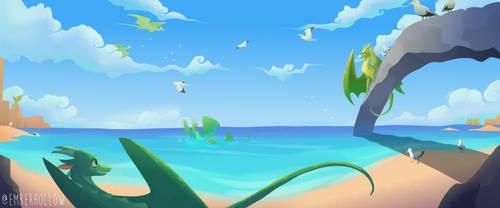 dragon beach by owlspiice