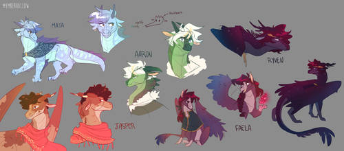 eloraverse but everyone's a dragon by owlspiice