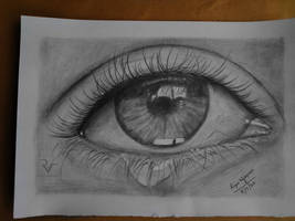 eye pencil drawing   Riju vijayan