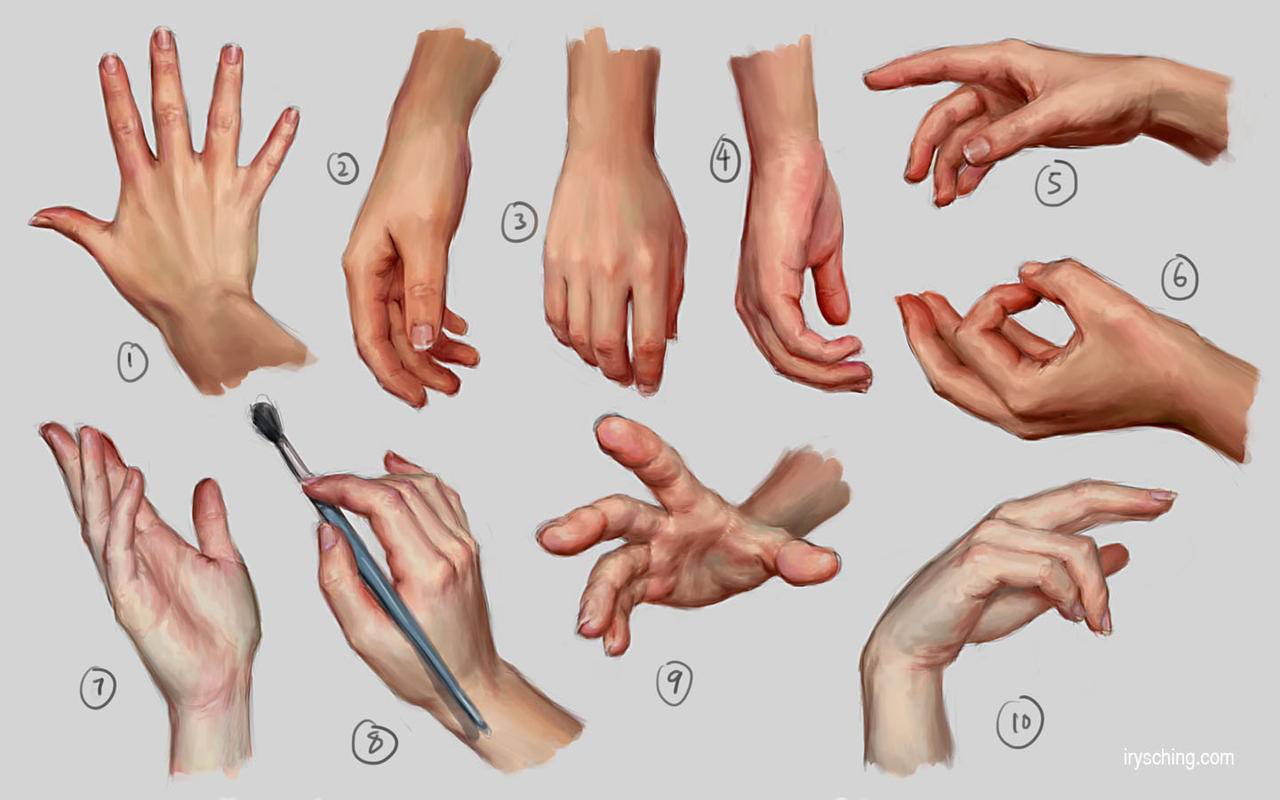 Hand Study 1 by irysching