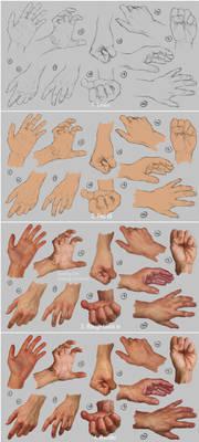 Hand study 2 - Steps