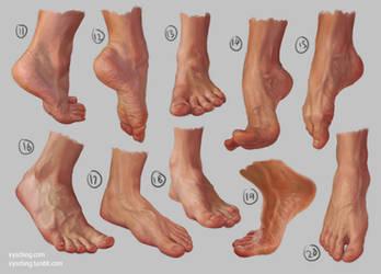 Feet Study 2 by irysching