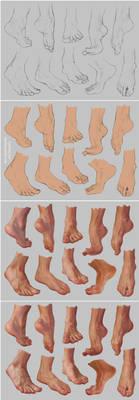 Feet Study 2 - Steps