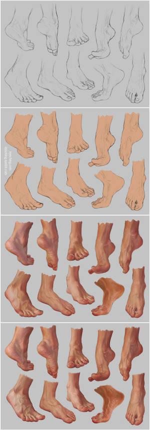 Feet Study 2 - Steps by irysching