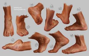 Feet study 4 by irysching