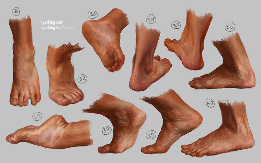 Feet study 4 by irysching on DeviantArt