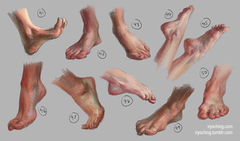 Feet Study 5 by irysching
