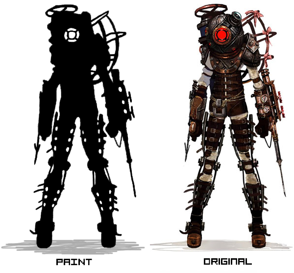 Bioshock 2 Big Sister silhouette paint made by roky146 on ...