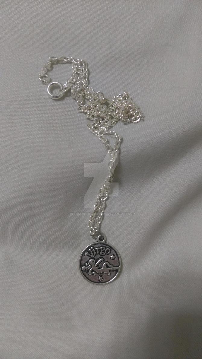 zodiac sign necklace (virgo) by BethSchniederoficial
