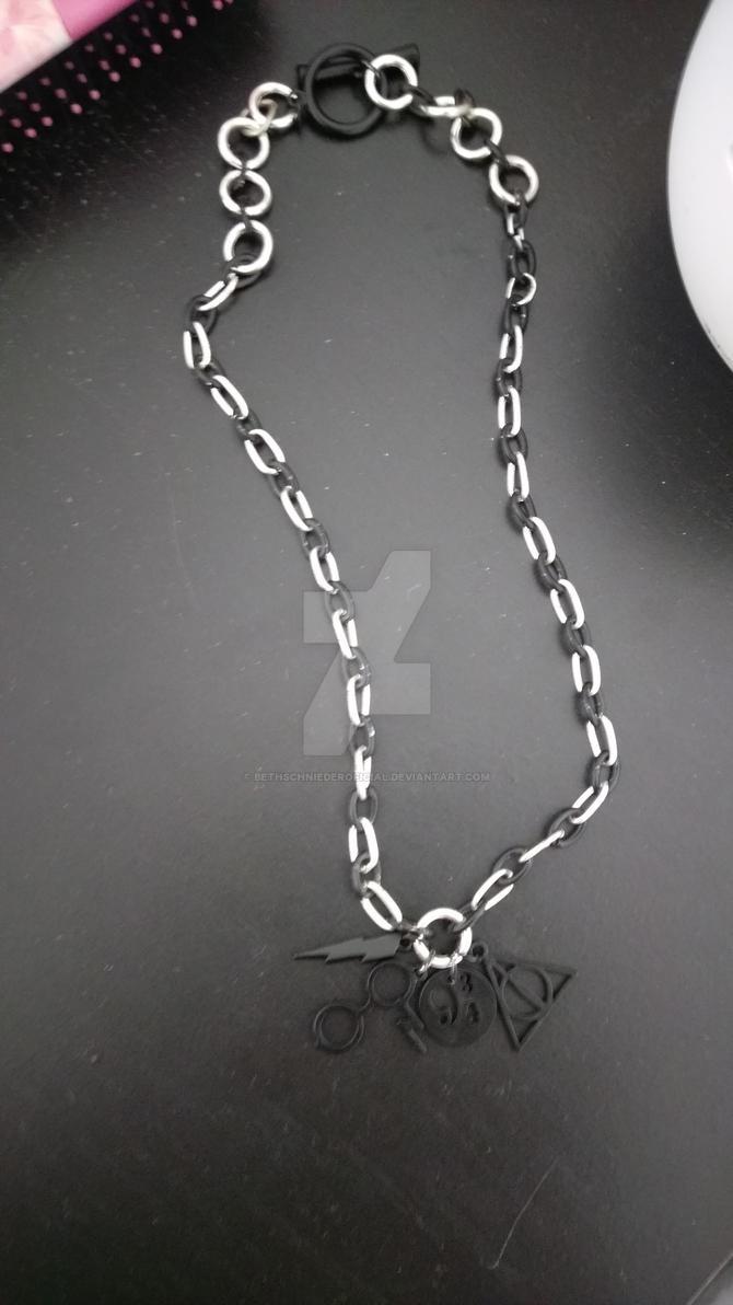 Harry Potter Symbols Necklace By Bethschniederoficial On Deviantart