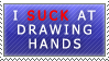 Stamp: I suck at drawing hands by Jeshika-Haruno