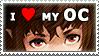 Stamp: I love my OC(s) by Jeshika-Haruno