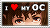 Stamp: I love my OC(s) by Jeshika-Haruno