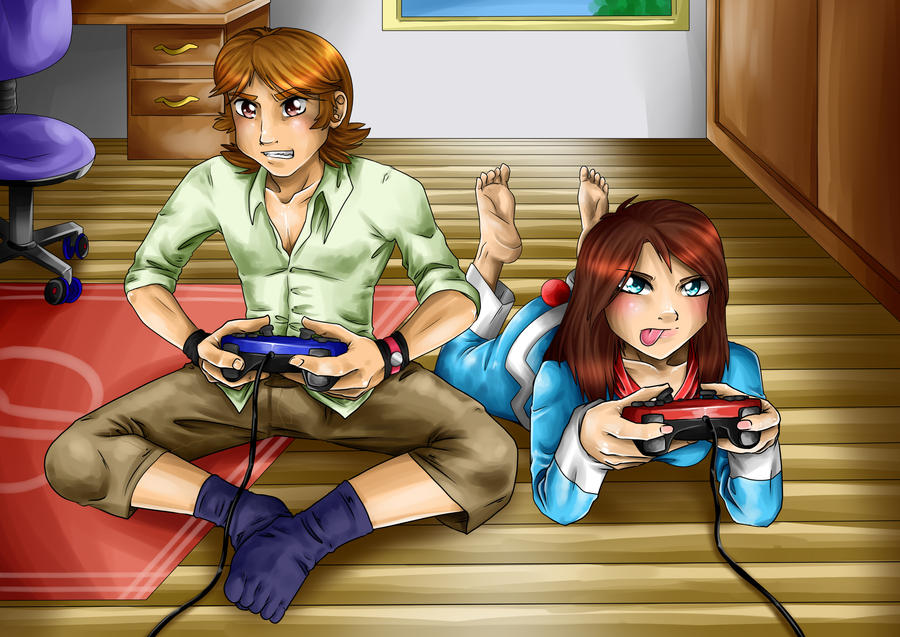 PCOM: playing videogames by Jeshika-Haruno