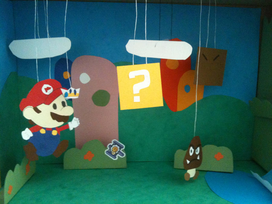 paper mario sticker star diorama by dioraman