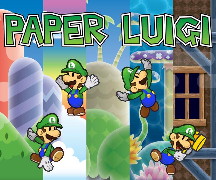 paper luigi jumping