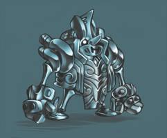 Steam Golem by KoiDrake