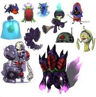 Random Critters by KoiDrake