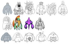 Manikins - Giant / Fat by KoiDrake
