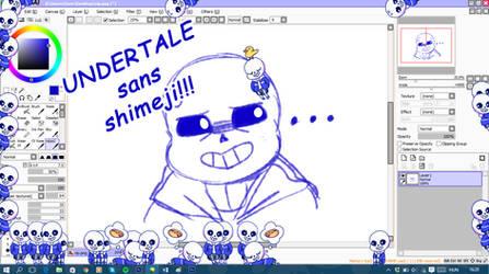 Undertale - Sans shimeji [UPDATED] by Mirachaan