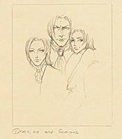 Draco, Lucius and Scorpius by TristanStahl