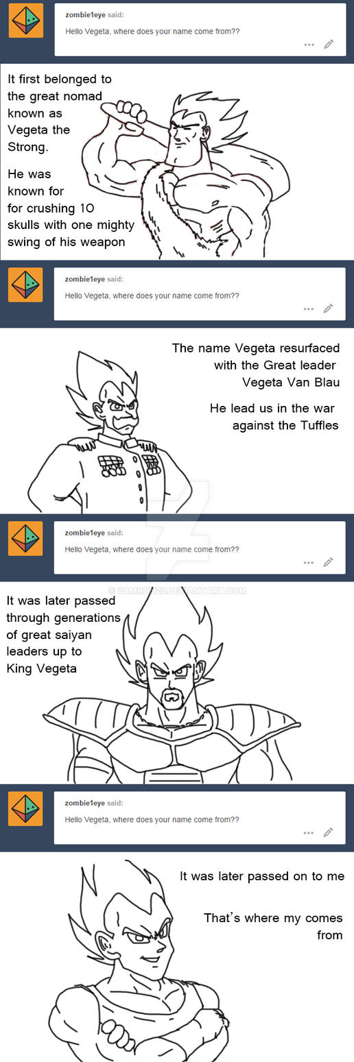 Ask Vegeta 8 by Camron23