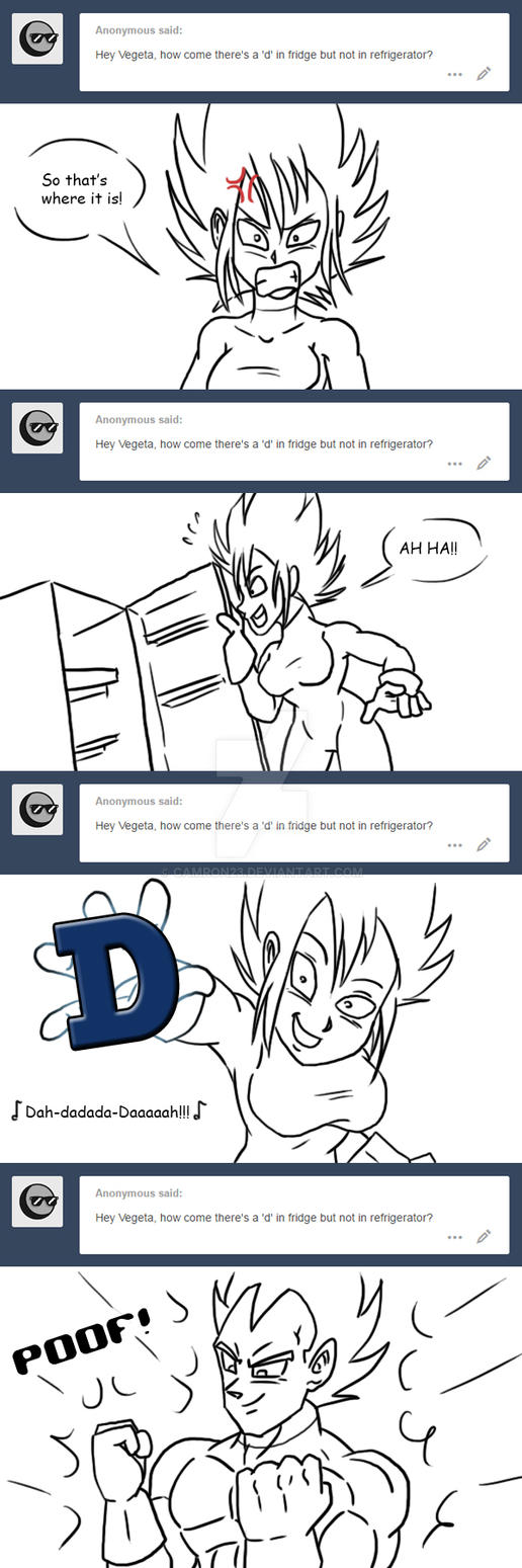 Ask Vegeta 16 by Camron23