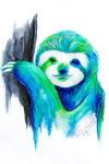 Watercolor Sloth
