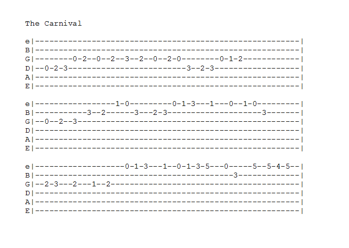 Guitar guitar tabs pictures : The Carnival: Guitar tabs by Nyakune-Yami on DeviantArt