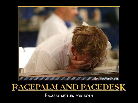 Ramsay facepalm by WeirdAlsFollower