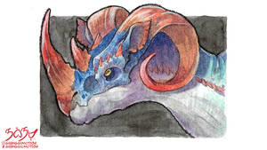 Watercolours and Ink - Weird Creature