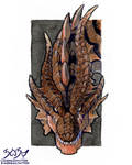 Watercolours and Ink - Crimson Fatalis by GabingGalmot534