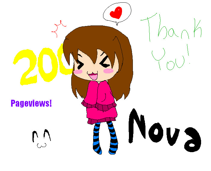 200 pageviews by Nova-moon