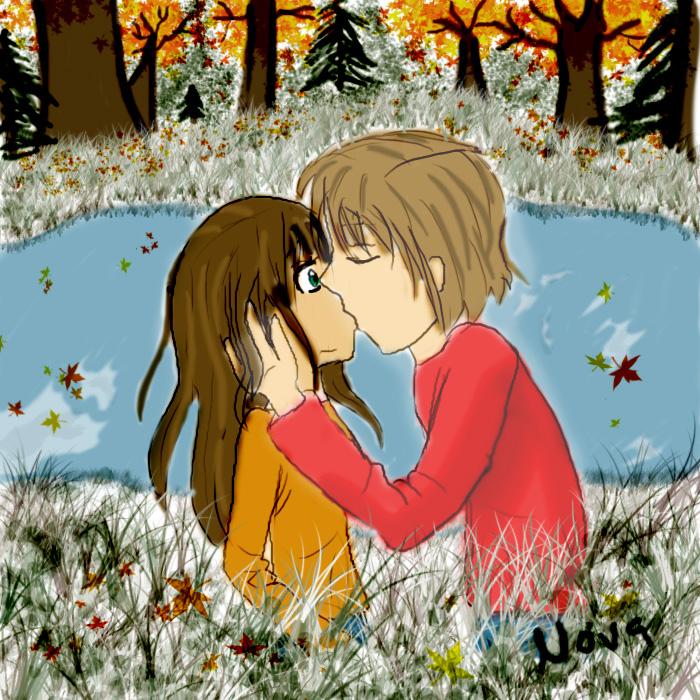 Autumn kiss by Nova-moon