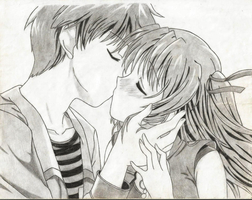 Anime Kiss By Kumatora123 On DeviantArt