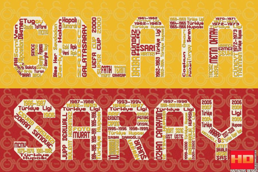 Galatasaray için Tipografi  Çalışmalarım - Haitaenis Design