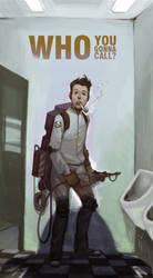 ghostbuster in trouble by CapAmerica13