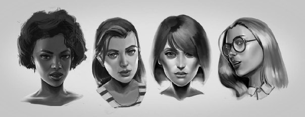 character sketches by CapAmerica13