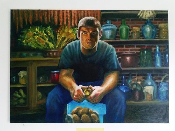 Spock peeling potatoes by Soldierski