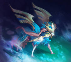 Zacian the greatest wolf