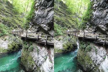 Stereoscopic tiny path over the river by GizmoX7